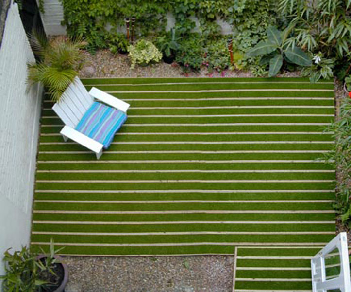 Artificial grass decking outer eden for Garden decking and grass ideas