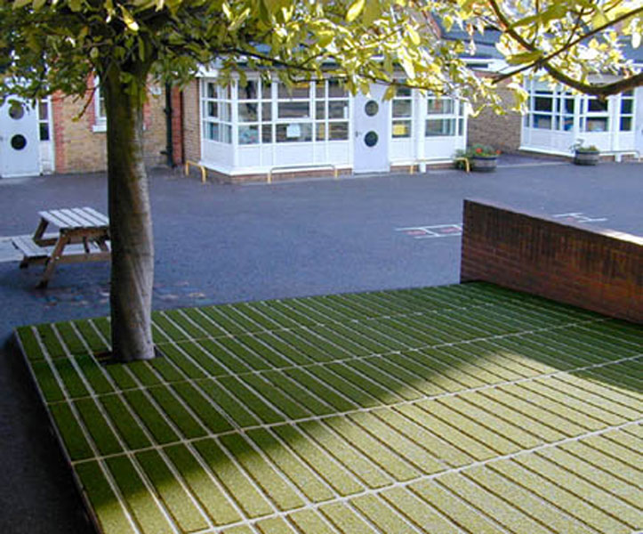 Artificial grass decking outer eden for Garden decking and grass