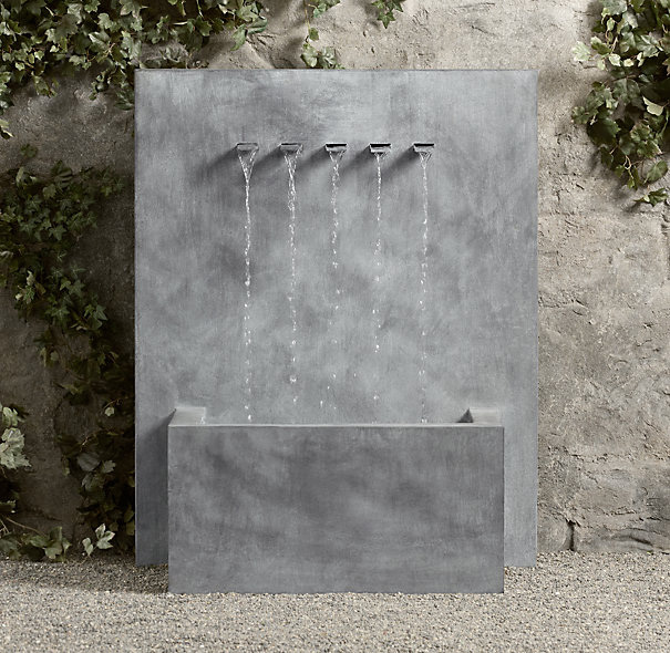 Water features outer eden for Wall water fountain